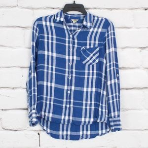 Woolrich Lightweight Soft Blue Flannel Shirt Sz S